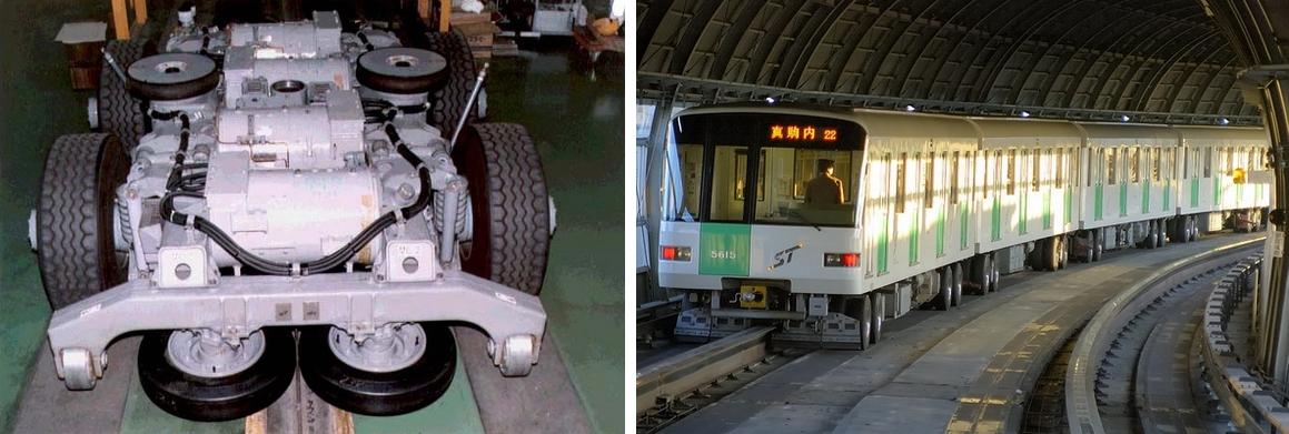 札幌地铁胶轮导轨