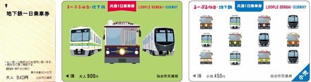 仙台市地铁一日乘车券