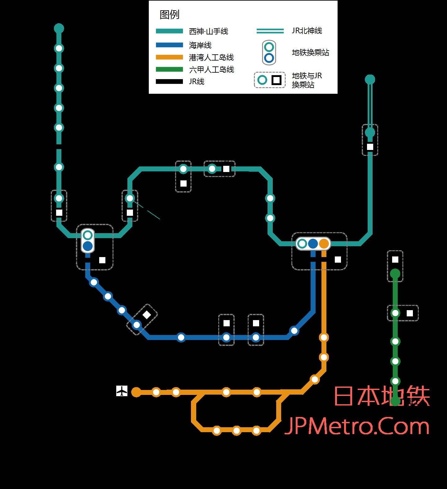 神户地铁线路图