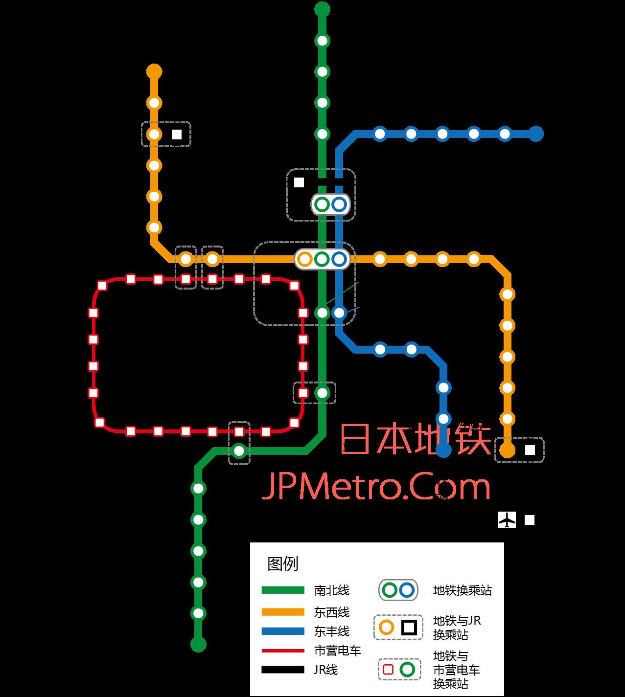 札幌地铁线路图