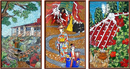 冲绳单轨那霸机场区域艺术瓷砖