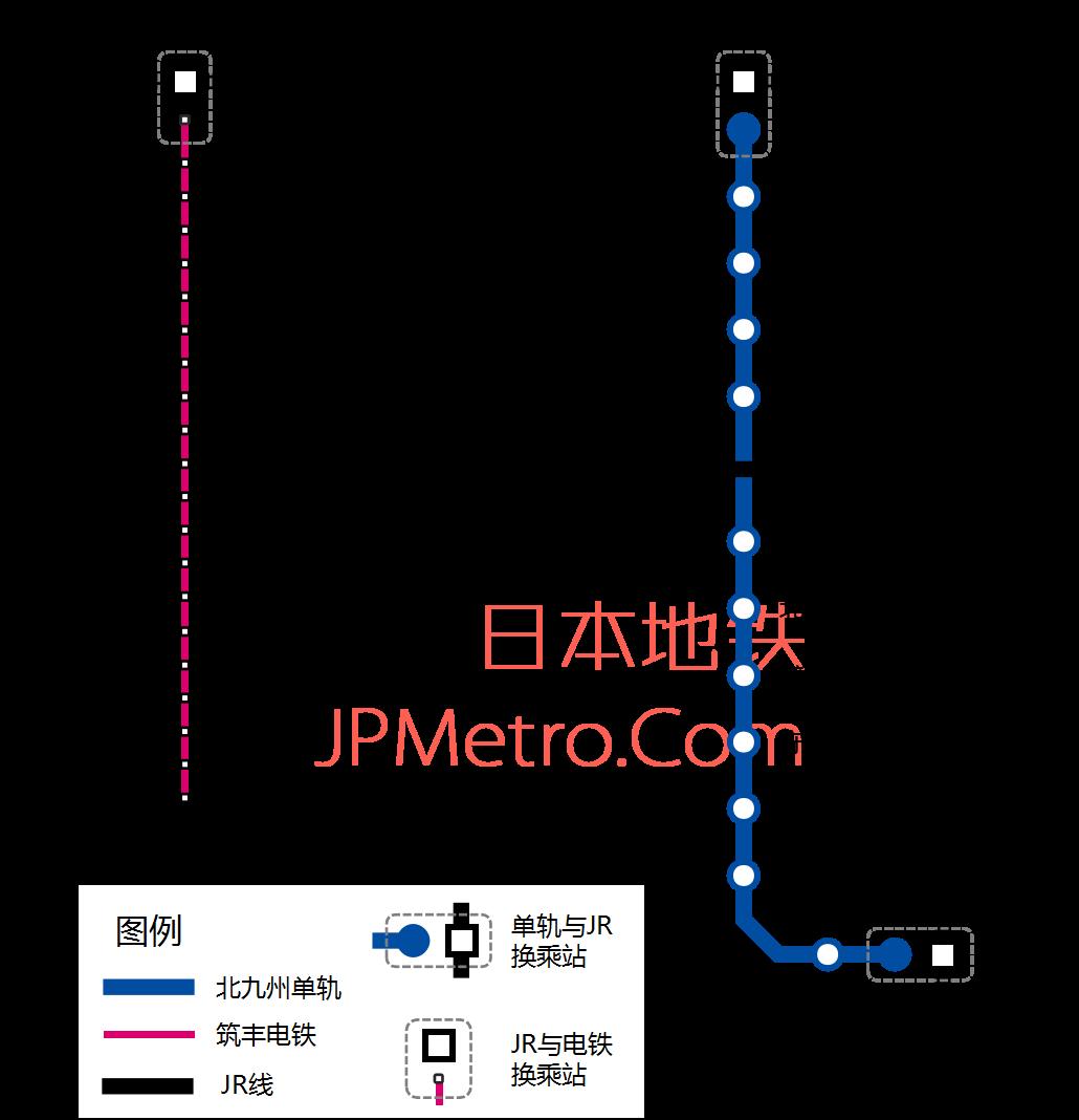 北九州单轨线路图
