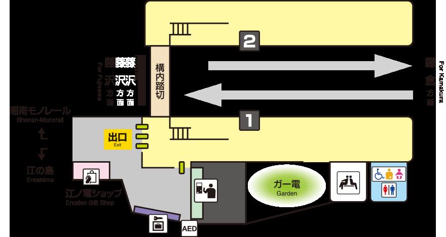 江之岛电铁江之岛站平面图