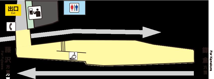江之岛电铁稻村崎站平面图