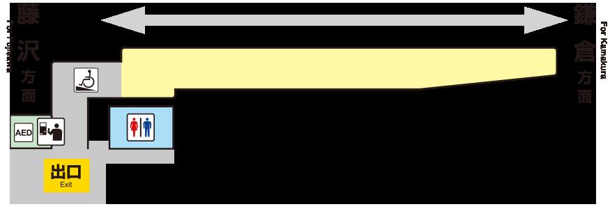 江之岛电铁极乐寺站平面图