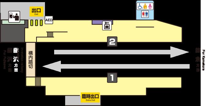 江之岛电铁长谷站平面图