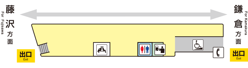 江之岛电铁和田冢站平面图
