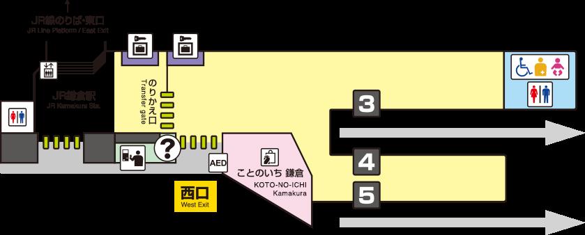 江之岛电铁镰仓站平面图