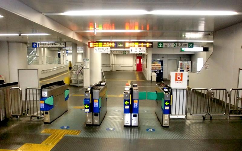 神户新交通港湾人工岛线市民广场站