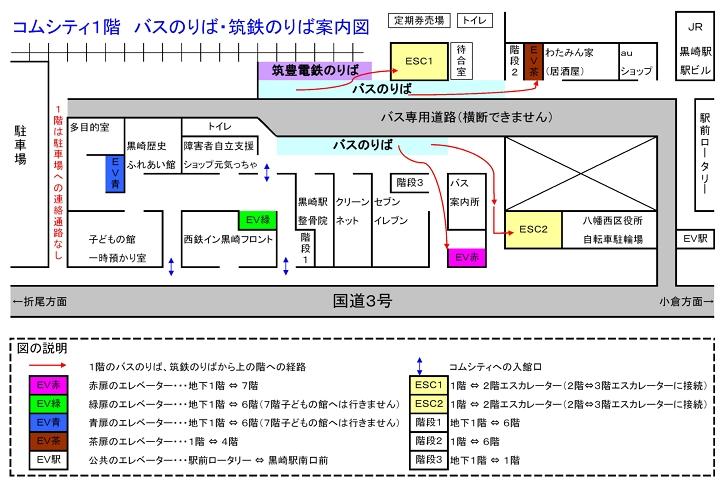 筑丰电铁黒崎站前站区位图