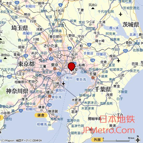 东京地铁博物馆区位图