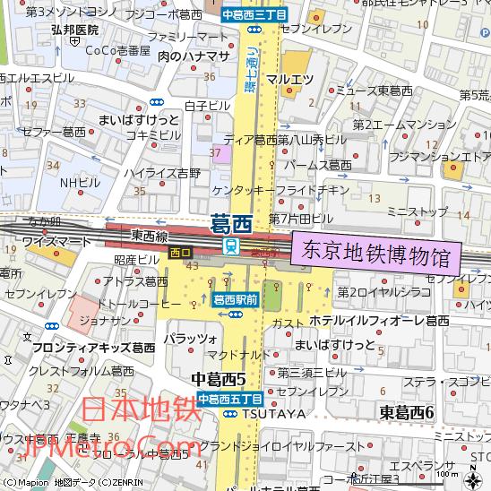 东京地铁博物馆附近地图