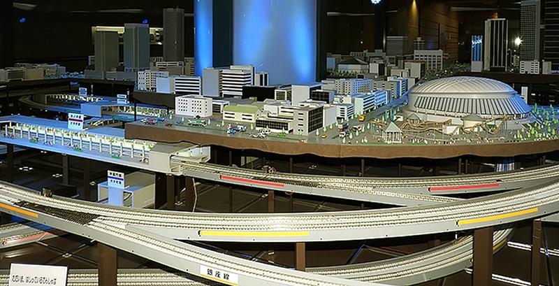 东京地铁博物馆内巨大的模型