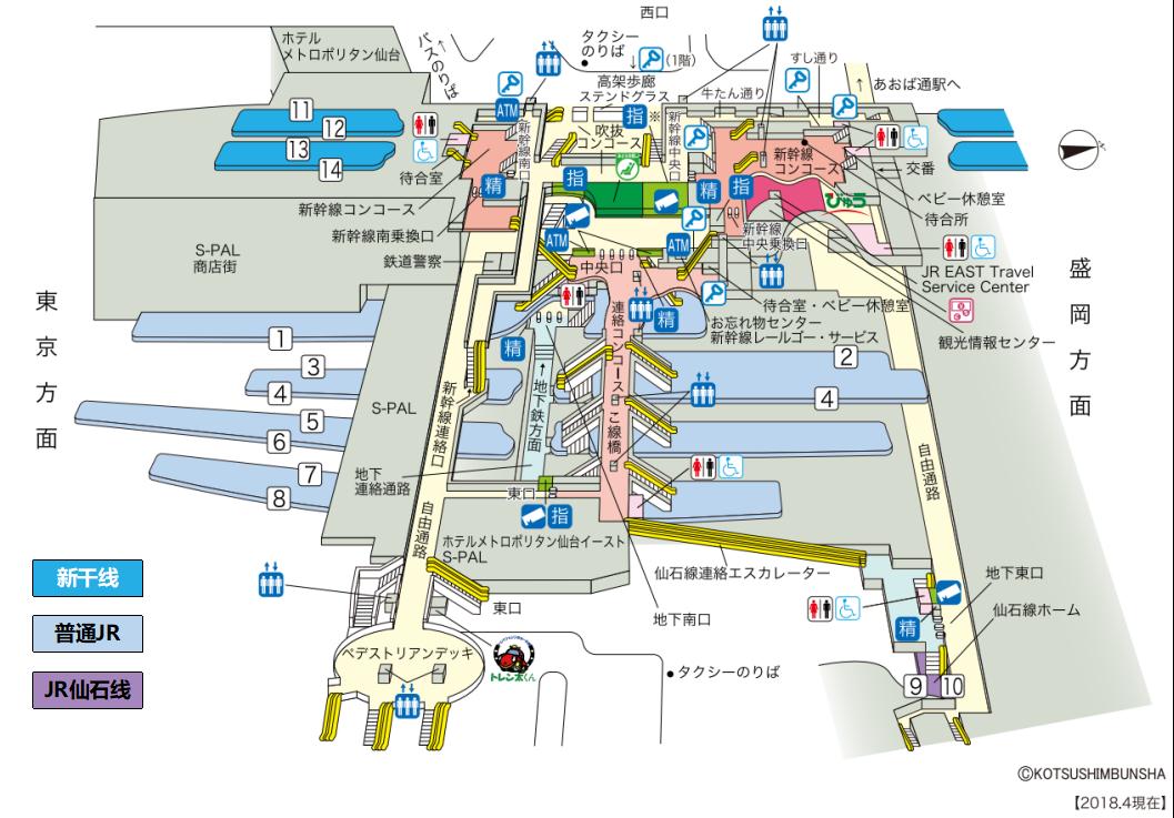 日本仙台车站详细结构图