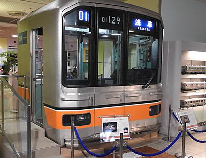东京地铁博物馆内的银座线01系列车
