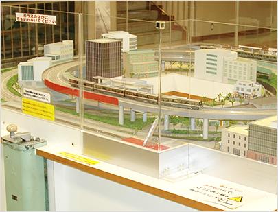 东京地铁博物馆内的模型