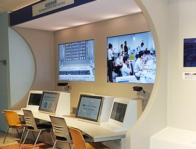 东京地铁博物馆内的模拟调度中心