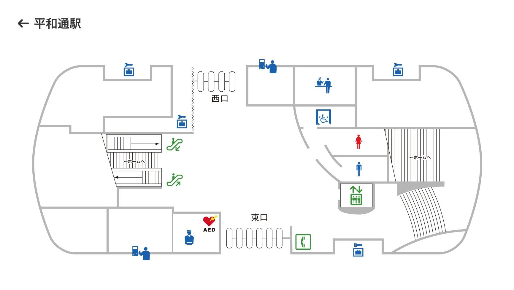 北九州单轨小仓车站站厅层布局图