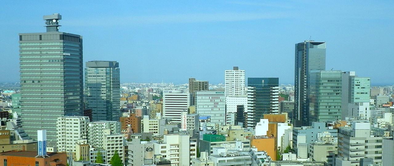 仙台车站西北的高楼群