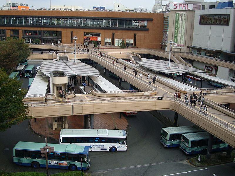 仙台站附近的公交场站