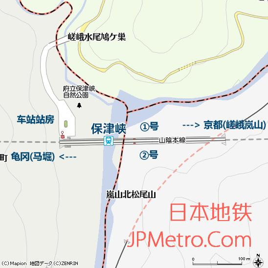 保津峡车站平面图
