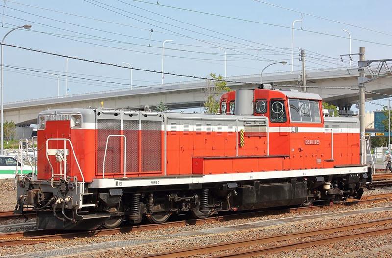 未变更涂装前的嵯峨野观光小火车机车头