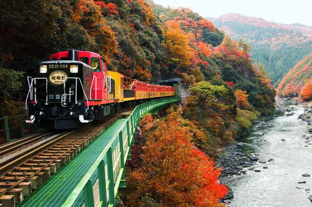 嵯峨野观光小火车
