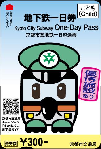 京都地铁儿童一日乘车券