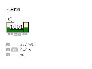 叡山电铁1000系列车编组信息