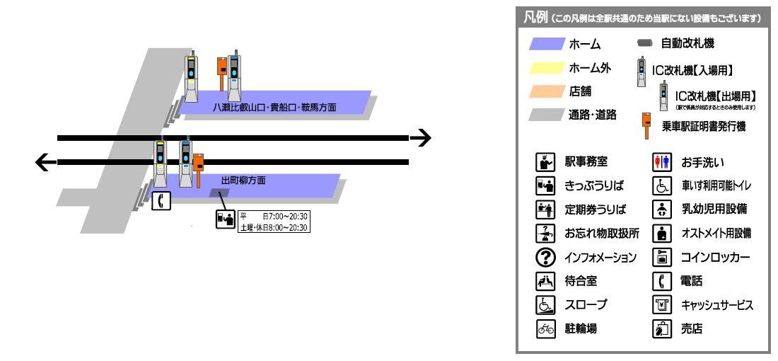 叡山电铁一乘寺站平面示意图
