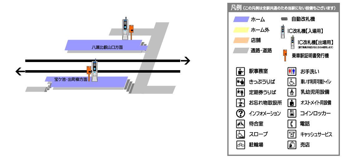 叡山电铁三宅八幡站平面示意图