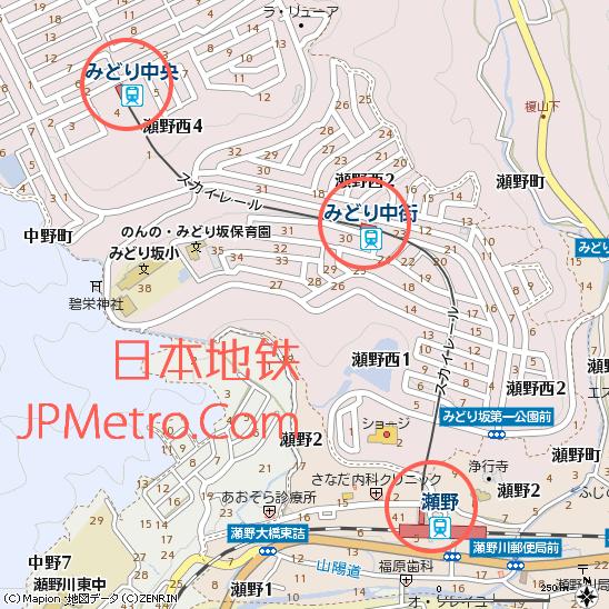 广岛短距离APM濑野线区位图