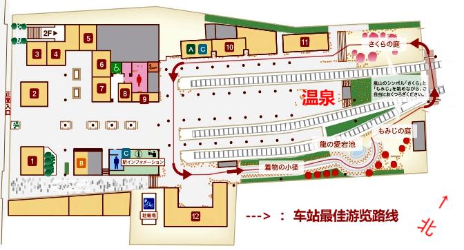 岚山站平面示意图