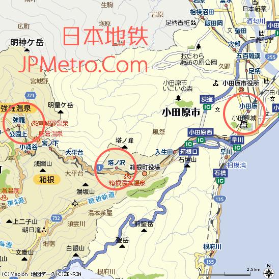 箱根登山铁道大致走向