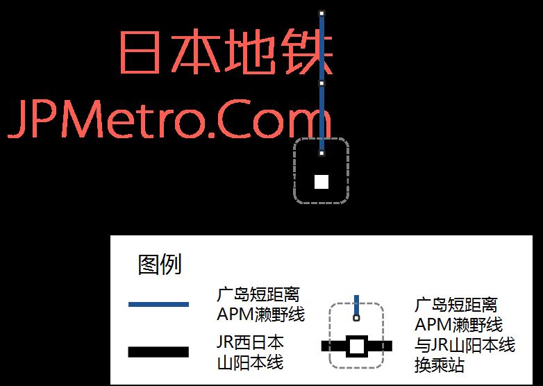 广岛濑野APM线路图