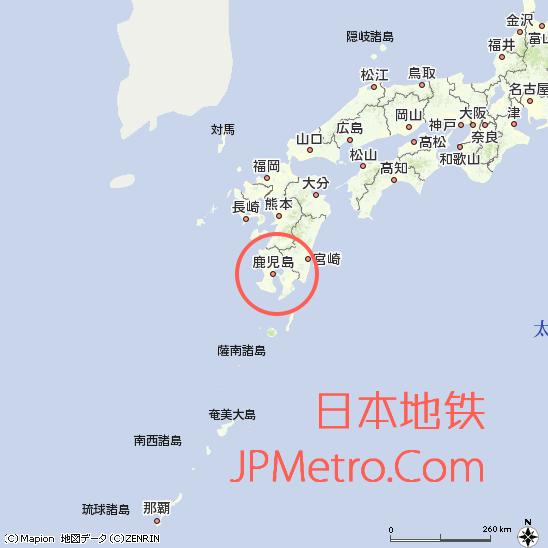 鹿儿岛在日本的区位