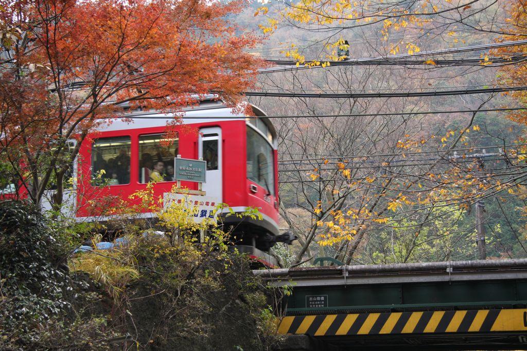 箱根登山铁道之秋