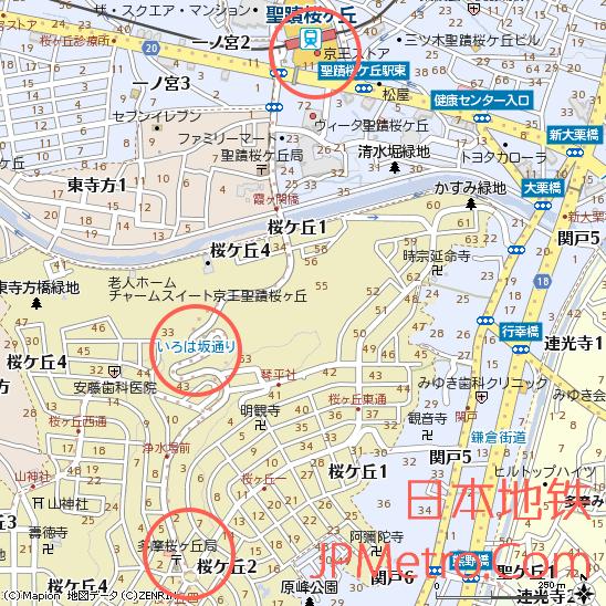 圣迹樱丘站周边地图