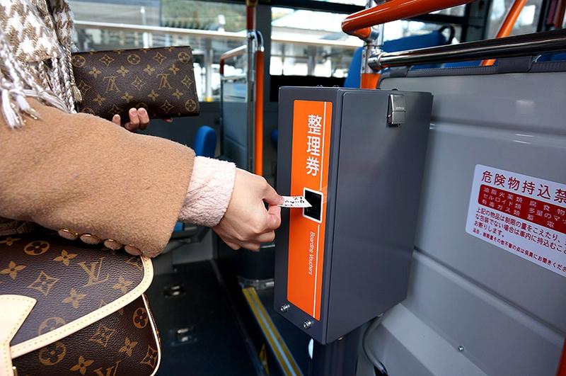 气仙沼线与大船渡线BRT车辆上的检票机