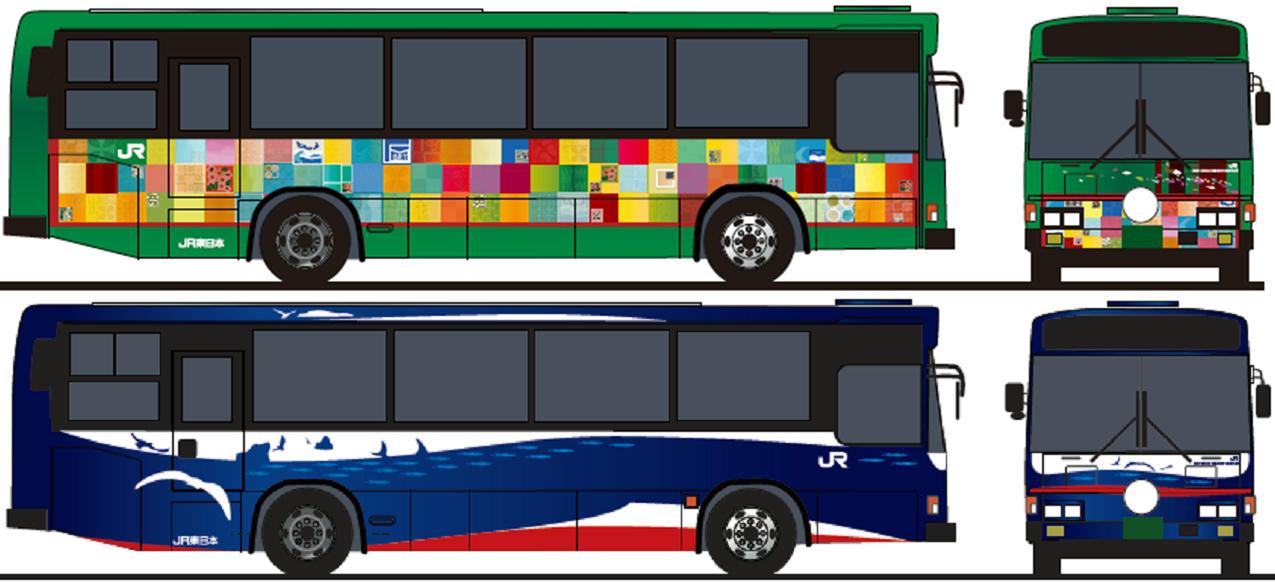 气仙沼线与大船渡线观光型BRT车辆