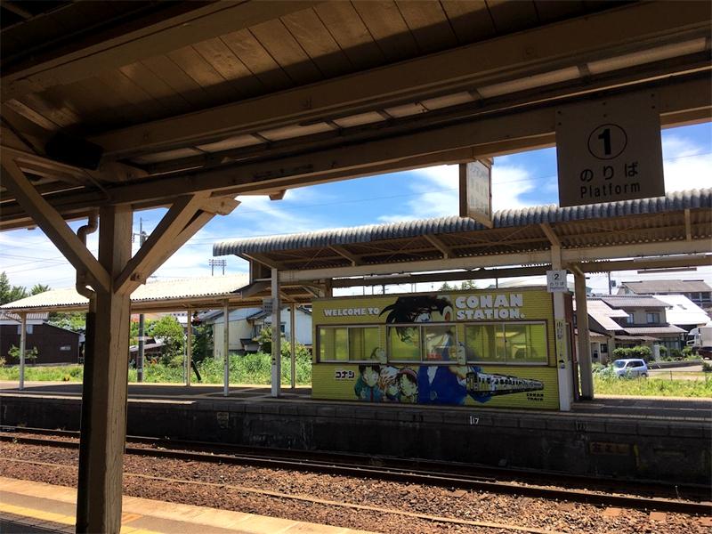 由良站的2,3号岛式站台