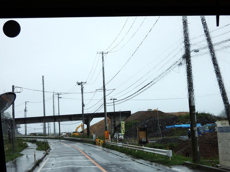 东日本大地震被毁坏的JR气仙沼线部分路段