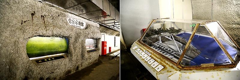 青函隧道海底避难所里的龙宫水族馆和隧道模型