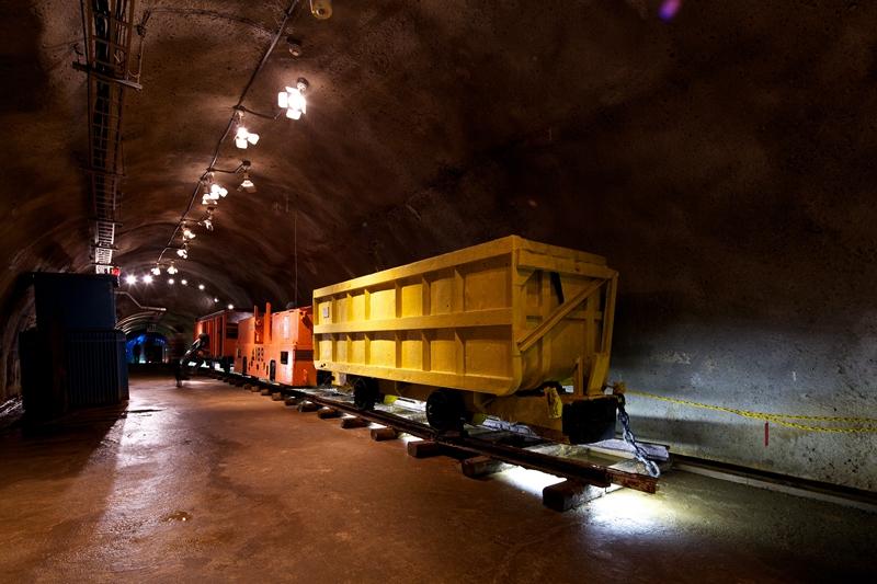 青函隧道里面的体验坑道展区