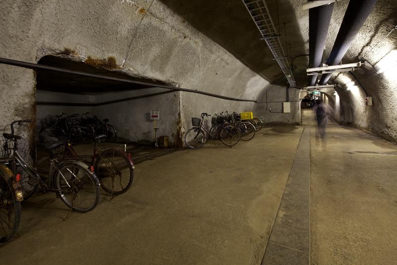 青函隧道里停放的自行车