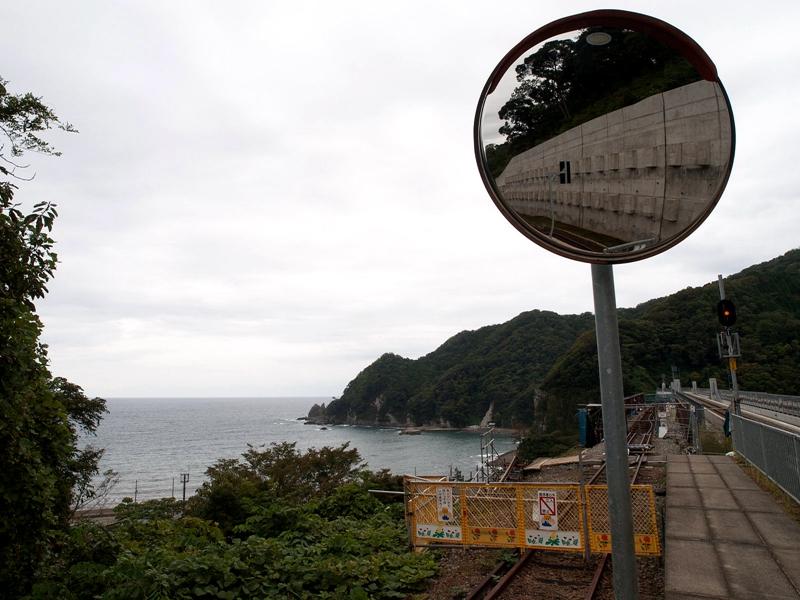 余部站远眺日本海