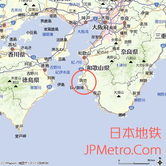纪州铁道在日本大致区位