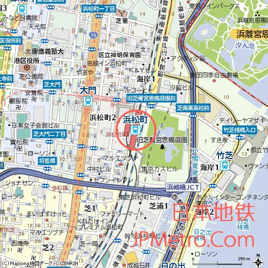 浜松町站周边地图