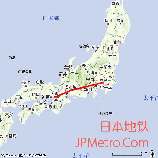 日本超导中央新干线大致走向