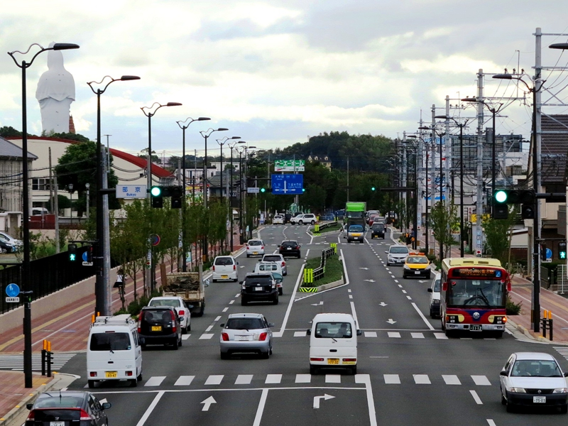 日本街上的右舵左行方式